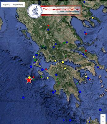 Ισχυρός σεισμός 5.2 βαθμών Ρίχτερ με επίκεντρο τη Ζάκυνθο