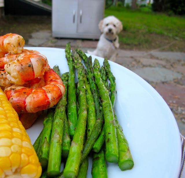 Summer Herbed Grilled Shrimp Recipe: Jenny Steffens Hobick: Grilled Herbed Shrimp, Asparagus