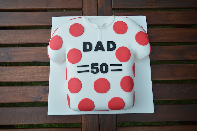 King of the mountains cycling jersey cake