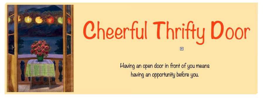 Cheerful Thrifty Door