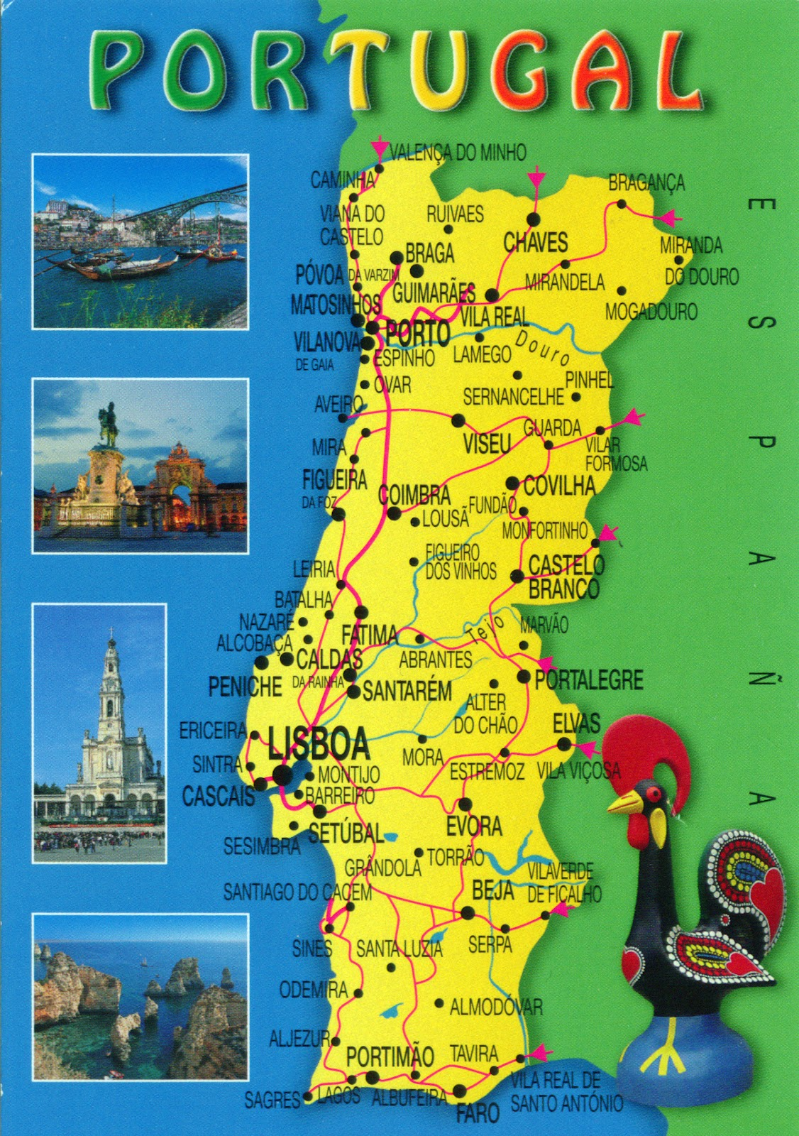 WORLD COME TO MY HOME 0153 PORTUGAL The map of the country