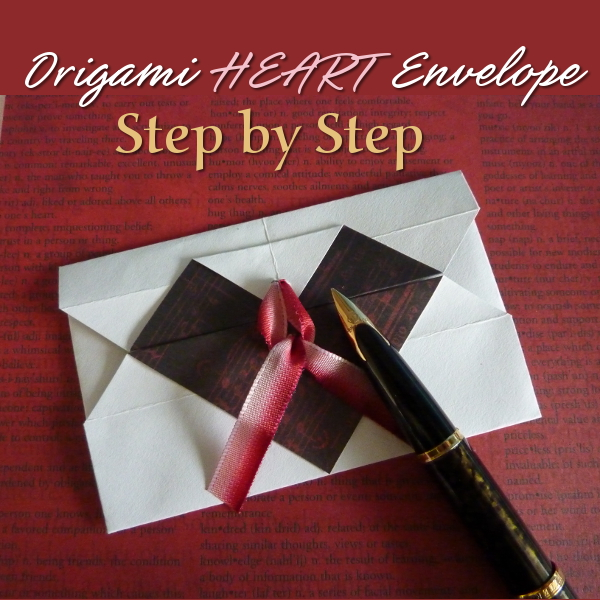 Make a Super CUTE Two Color Origami Heart Envelope With Simple Step by Step Instructions