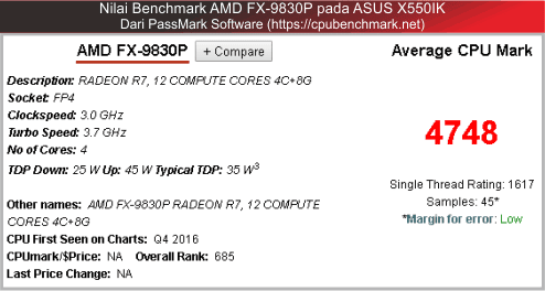 benchmark amd fx-9830 untuk laptop asus gaming amd