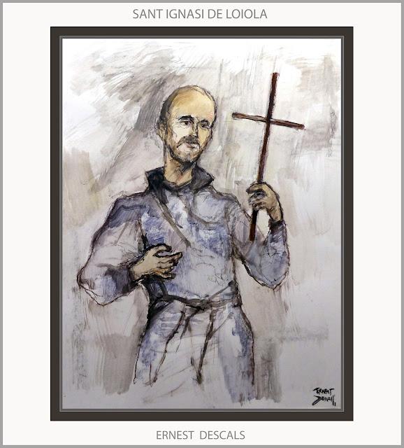 SANT IGNASI DE LOIOLA-ART-PINTURA-MANRESA-SAN IGNACIO DE LOYOLA-ARTE-PERSONAJES-PINTURAS-ARTISTA-PINTOR-ERNEST DESCALS-