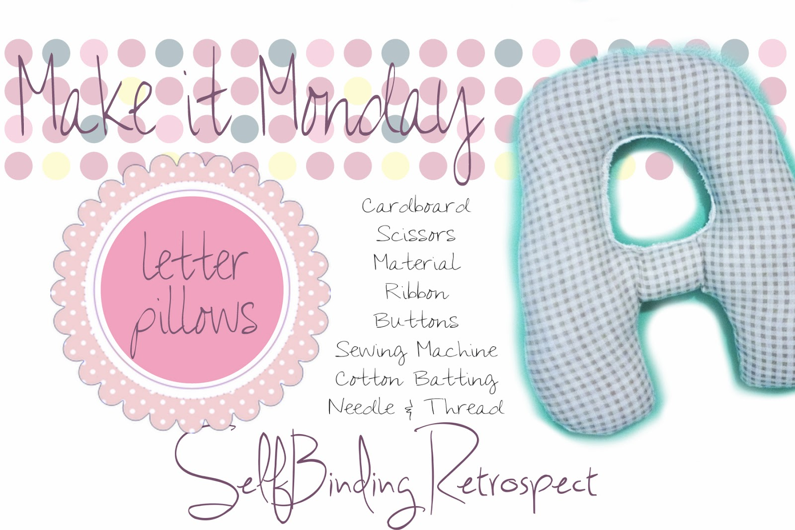 make it monday, pillow, letter pillow, baby present