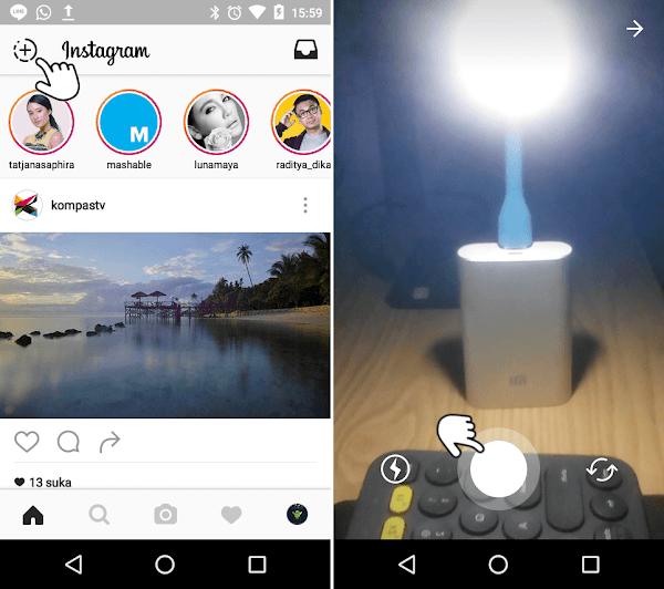 cara melihat Instagram Stories
