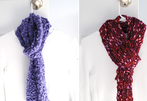 easy knit scarves
