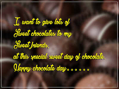 Happy chocolate day SMS