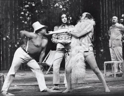 Thomas Carey (Mel), Jill Gomez (Flora) and Robert Tear (Dov) in Knot Garden's 1970 Covent Garden premiere, directed by Peter Hall Zoë Dominic/Opera News Archives