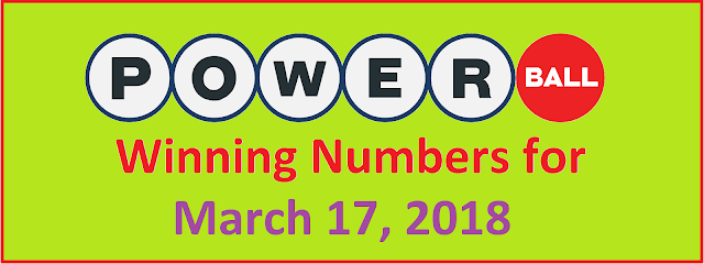 PowerBall Winning Numbers for 17 March 2018