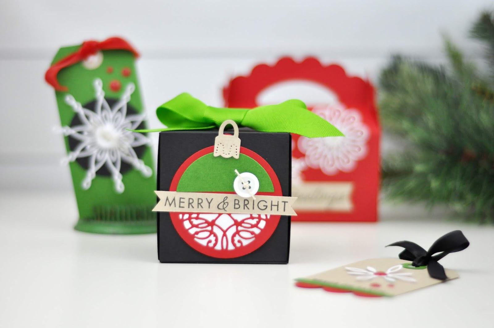 Spellbinders Christmas Tags, Cards, and Gift Boxes
