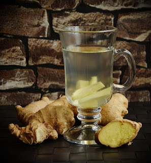 Ginger tea for stomach problems.