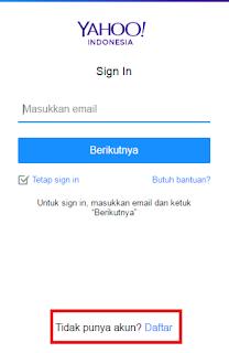 buat yahoo mail