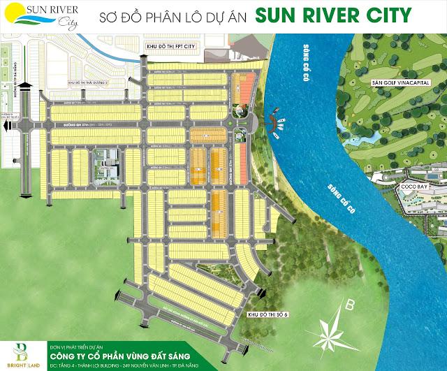 Sơ đồ phân lô dự án Sunriver City giai đoạn 2