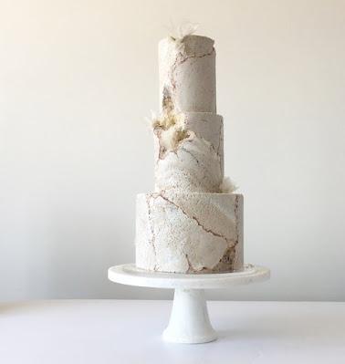 K'Mich Weddings - wedding planning - wedding geode white cake - Jasmine Rae Cakes