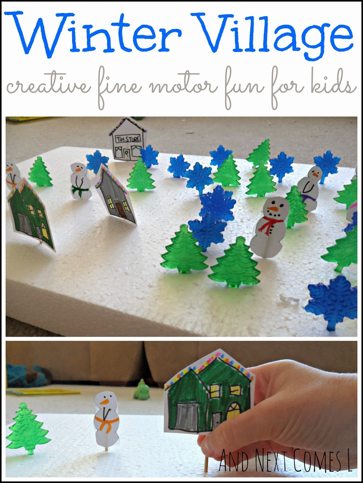 Winter Village Fine Motor Activity Fine Motor Fridays