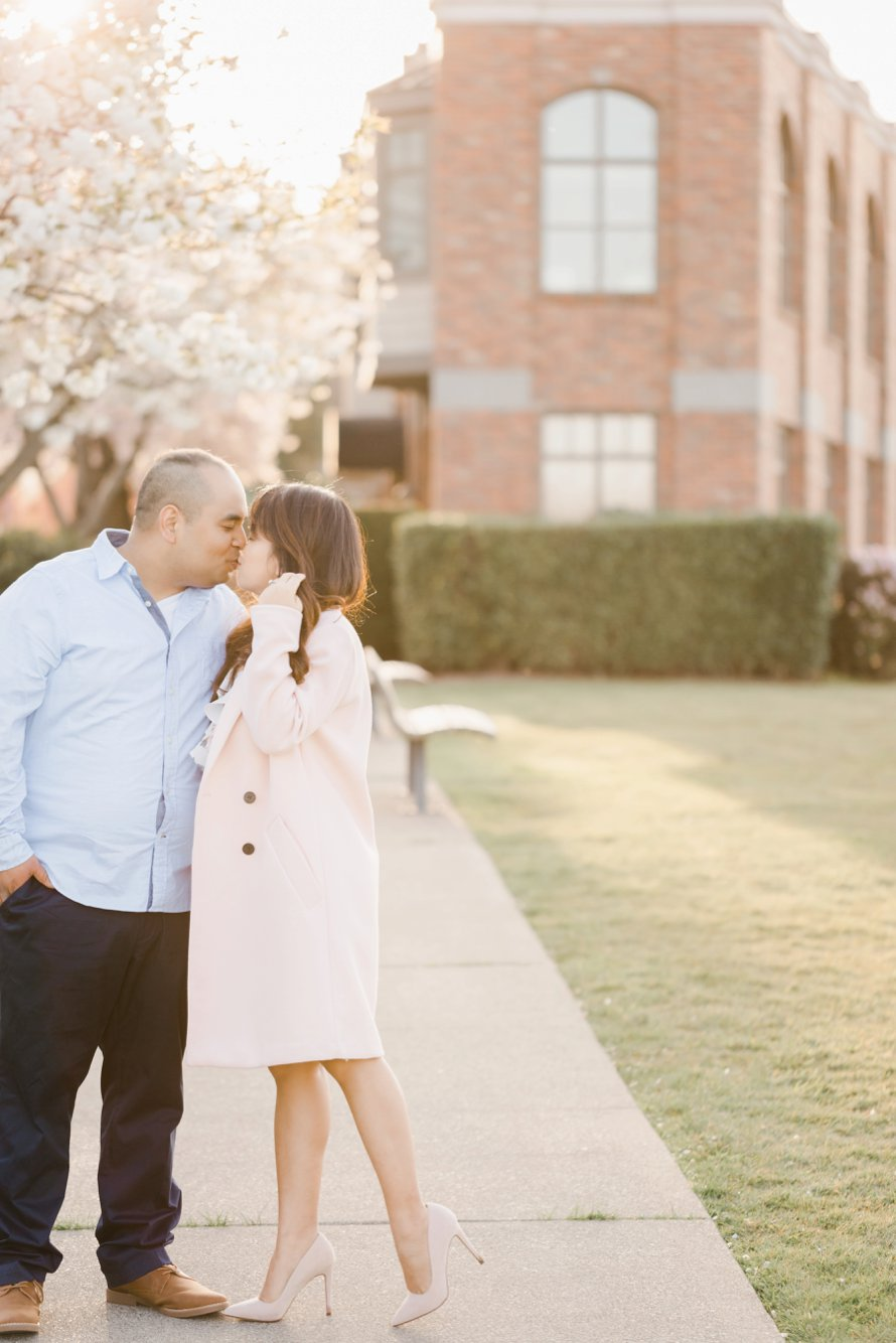 Spring Engagement SessioCherry Blossom Photography- Seattle Wedding Photographers-Something Minted