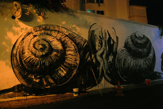 ROA MURAL IN PROGRESS PORTUGAL