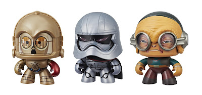 Star Wars The Force Awakens Mighty Muggs Mini Figure Series by Hasbro - C-3PO, Captain Phasma & Maz Kanata