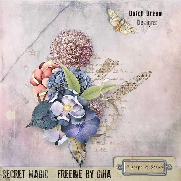 FREEbie CLUSTER..... SECRET MAGIC by DUTCH DREAM DESIGNS