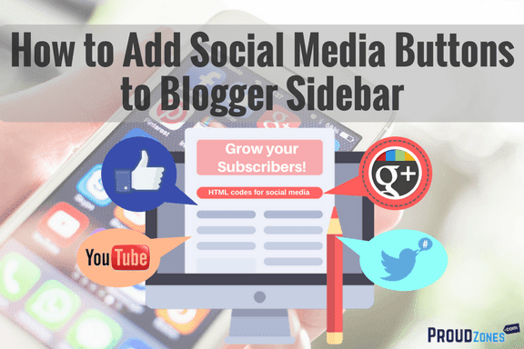 add social media icon buttons blogger sidebar