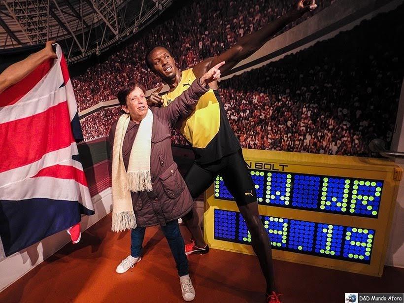 Usain Bolt - Madame Tussauds: Como visitar o museu de cera de Londres