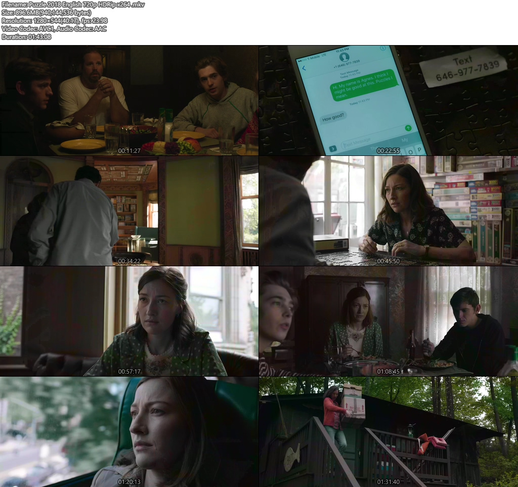 Puzzle 2018 English 720p HDRip x264 | 480p 300MB | 100MB HEVC Screenshot