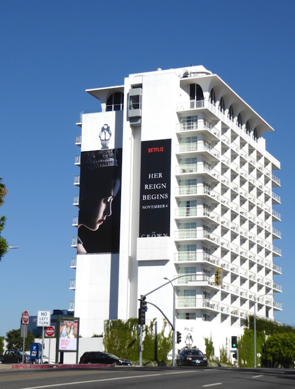 Giant Netflix Crown series billboard
