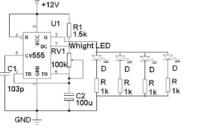 Electronics Projects: LED Flasher For Automobiles