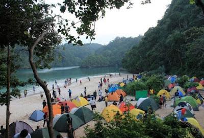 Biaya berkemah di Pulau Sempu Malang