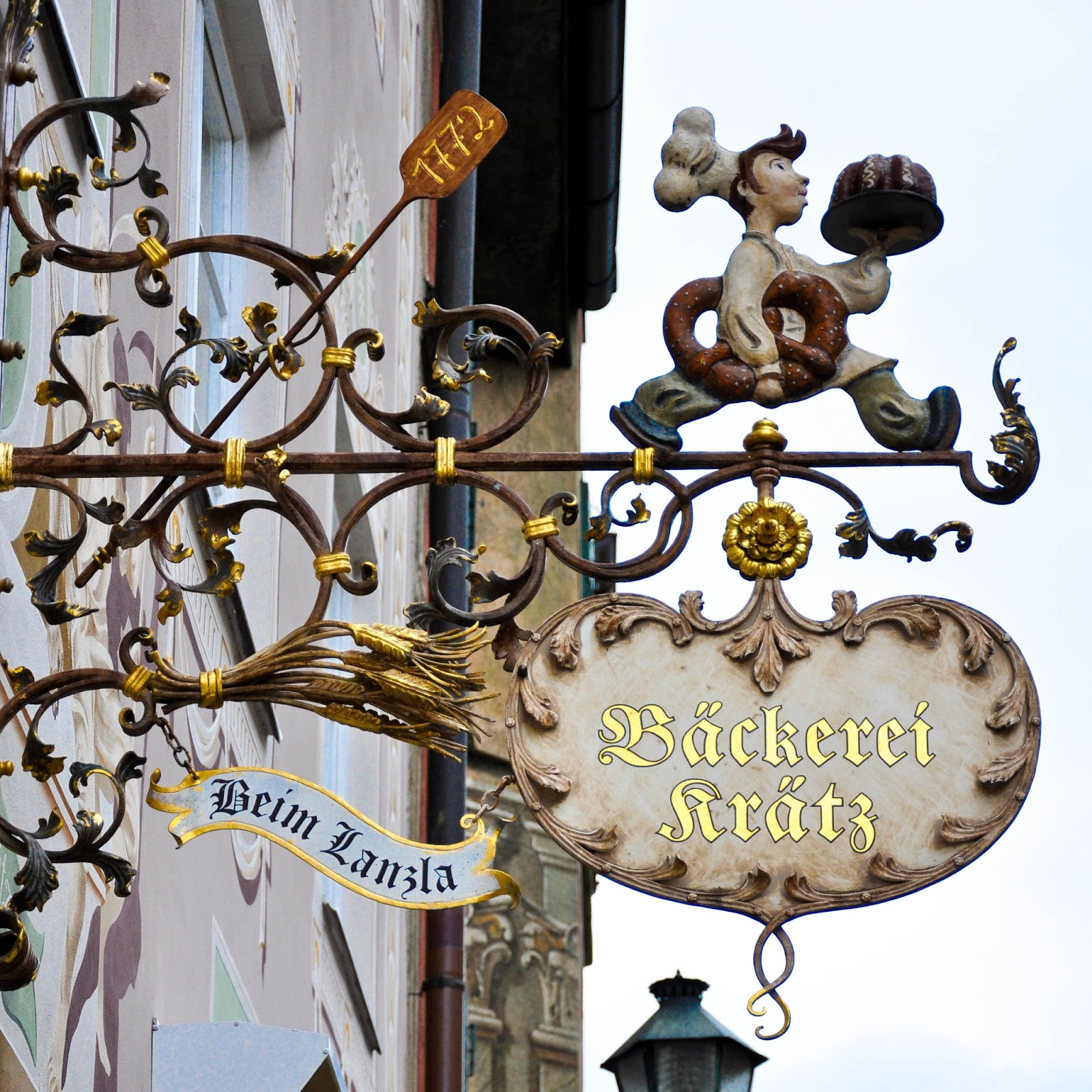 Bakery Shop Sign, Garmisch-Parternkirchen, Bavaria, Germany