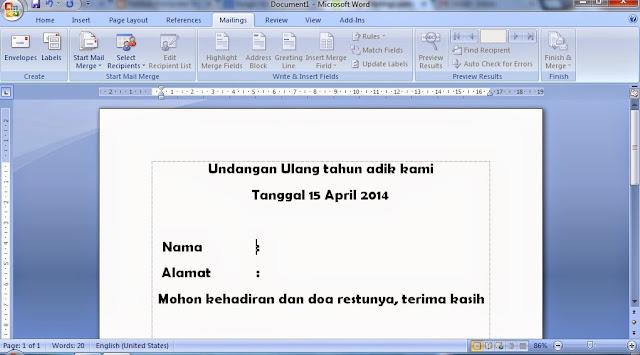 Fungsi dan Kegunaan Mailings Pada Microsoft Word, kegunaan mailings pada microsoft word, cara kerja mailings pada microsoft word, pengertian mailings pada microsoft word, panduan menggunakan mailings pada microsoft word, belajar microsoft word