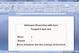 Kegunaan Mailings Pada Microsoft Word