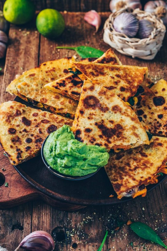 Vegan Sweet Potato Quesadillas. Need more recipes? 20 Tasty And Nourishing, Yet Quick Vegan Breakfast Recipes Ideas vegan breakfast weightloss | vegan breakfast protein | vegan breakfast healthy easy | vegan breakfast recipe #breakfast #vegan #veganideas #tasty