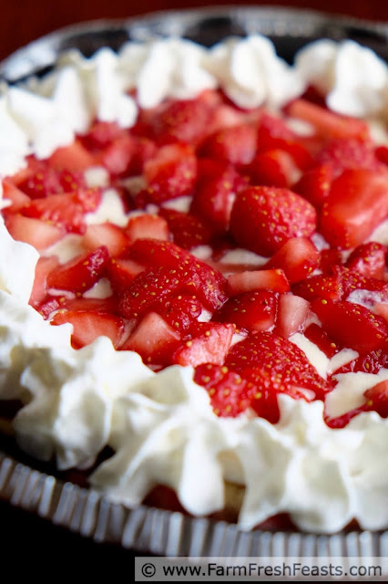 This Fresh Strawberry Sundae Ice Cream Pie takes the flavor of a strawberry sundae and makes it easy to serve a small crowd all at once. Great for graduation parties, Memorial day cookouts, or just because local strawberry season should be celebrated.