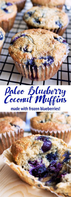 Paleo Blueberry Cococnut Muffins