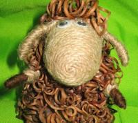 Джутово-виноградная овечка. Мастер-класс