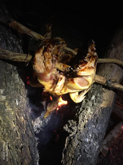 Nướng gà và nhâm nhi bên bếp lửa ở Masara.