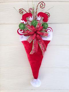 Adornos Navidenos Para La Puerta De Tu Casa Usando Gorritos De Navidad Cositasconmesh