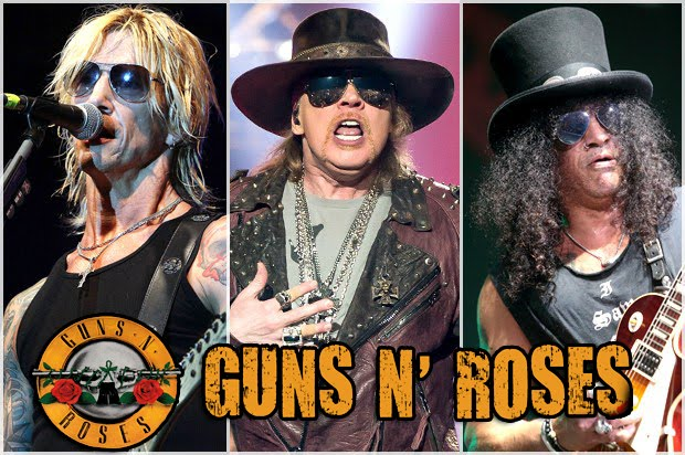 Guns N Roses today Duff Axl Slash 2016