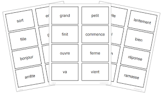 French Matching Card Game - Les contraires #aimlang