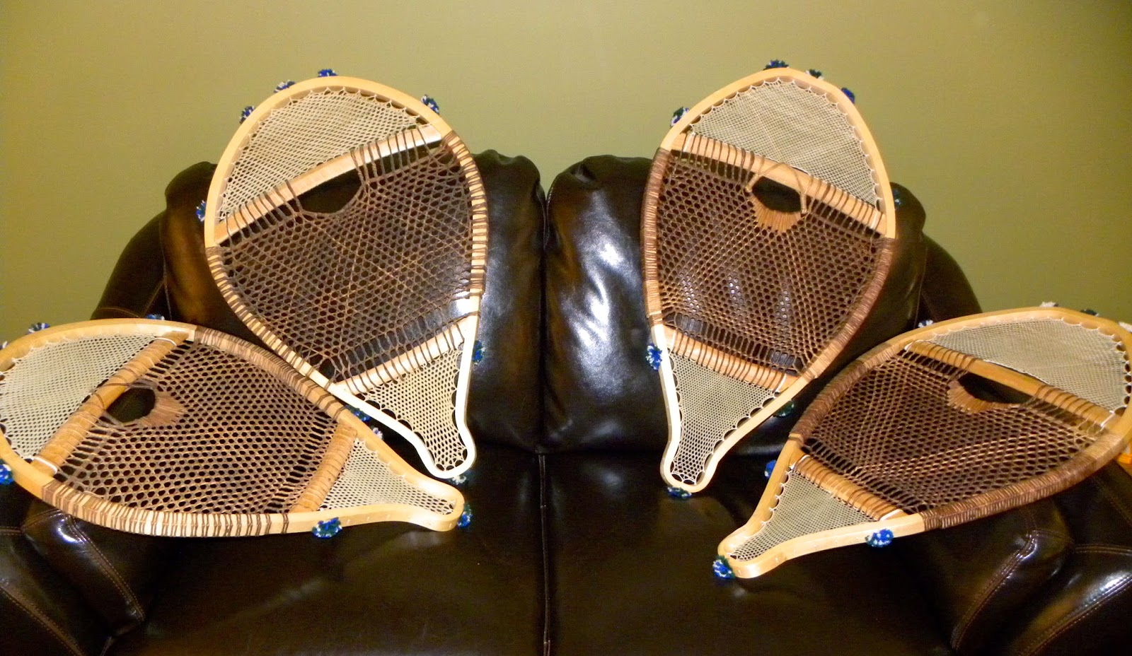 canoe chair office chairs for back problems harmony custom woodcraft: beaver tail snowshoes