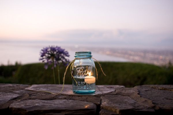 mason jar luminaries | vintage california chic wedding of Oh Lovely Day | Photo by Jennifer Roper