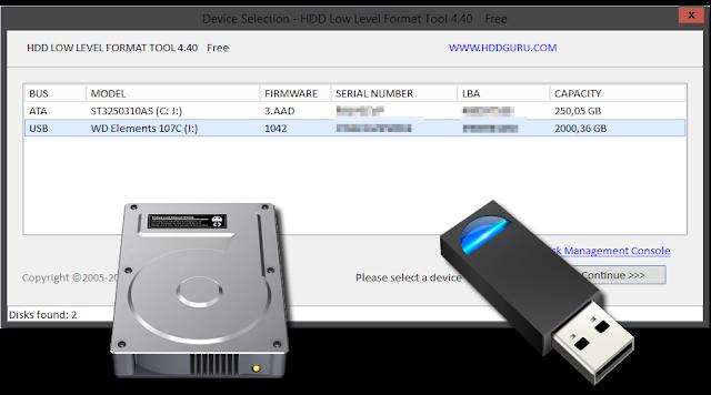 HDD Low Level Format Tool v4.40 | Utilidad para formatear a bajo nivel discos duros y unidades de almacenamiento