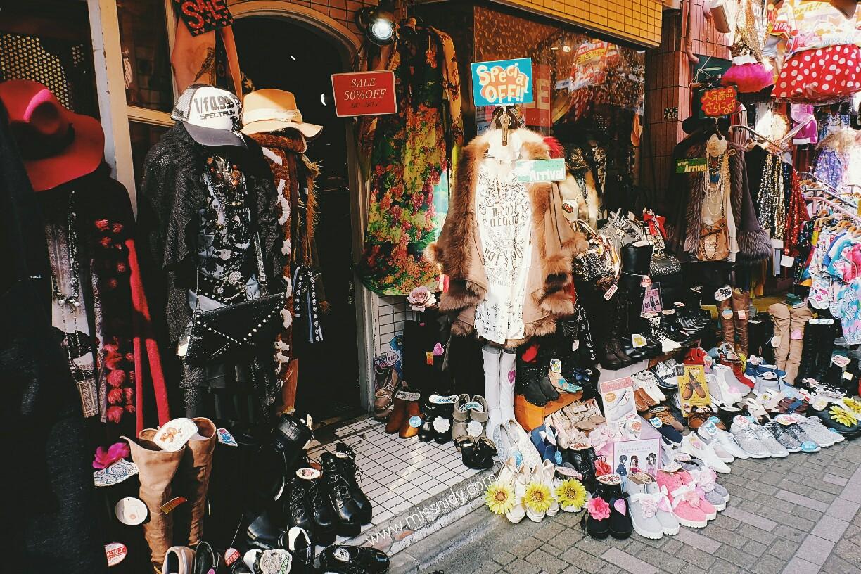 thrift shopping in harajuku tokyo