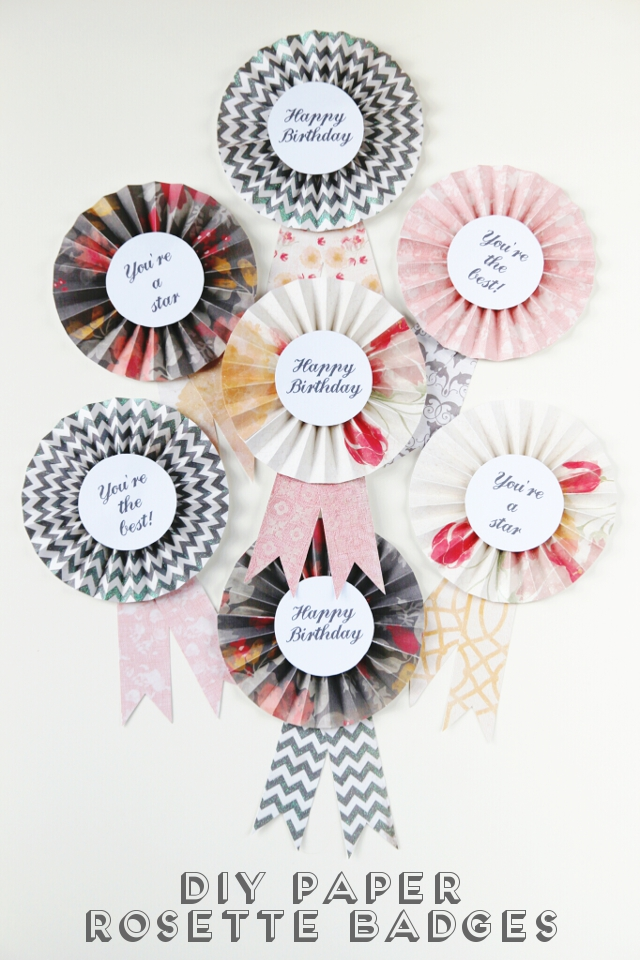 Diy Paper Rosette Badges
