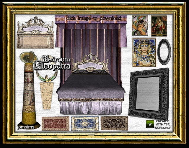 My sims 3 blog mar 15 2012 for Cleopatra bedroom set