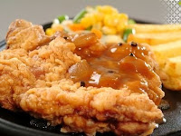 Resep Chicken Steak Crispy Saus Lada Hitam