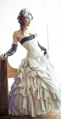 This Steampunk Bustle Dress style was popular in Victorian fashion
