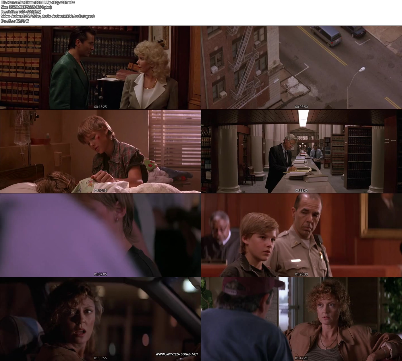 The Client 1994 BRRip 480p x264 350MB Free Movies Download Screenshot